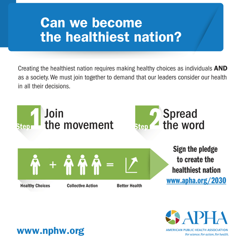 Share this during #NPHW! This is how we become the healthiest nation. Full infographic HERE: http://t.co/JcnuIZSpG5 http://t.co/V8zalgsuUb
