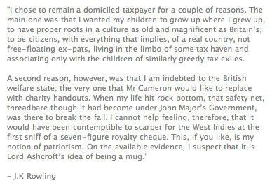 @sturdyAlex   JK Rowling on why she refused to become a non-dom. Makes me love her even more: http://t.co/89NKLg65j6