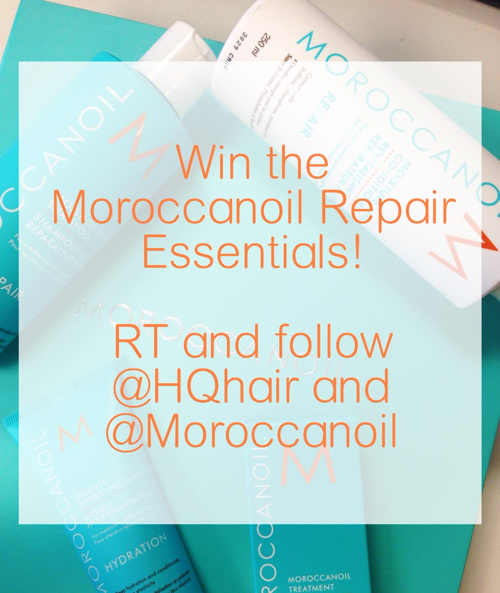 Fancy one more chance to win the @Moroccanoil Repair Essentials? RT and follow @HQhair & @Moroccanoil #HQxMoroccanoil http://t.co/9rpkc49G7N