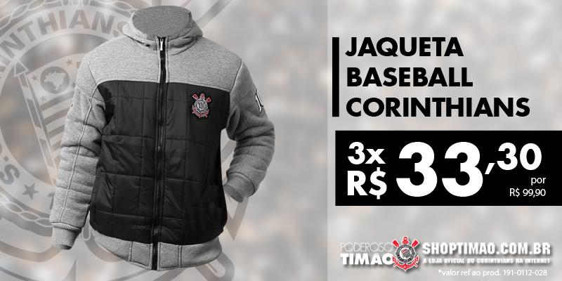 A jaqueta baseball da loja online do Timão é um sucesso! Aproveite que o  preço 52fcf8219bbc0