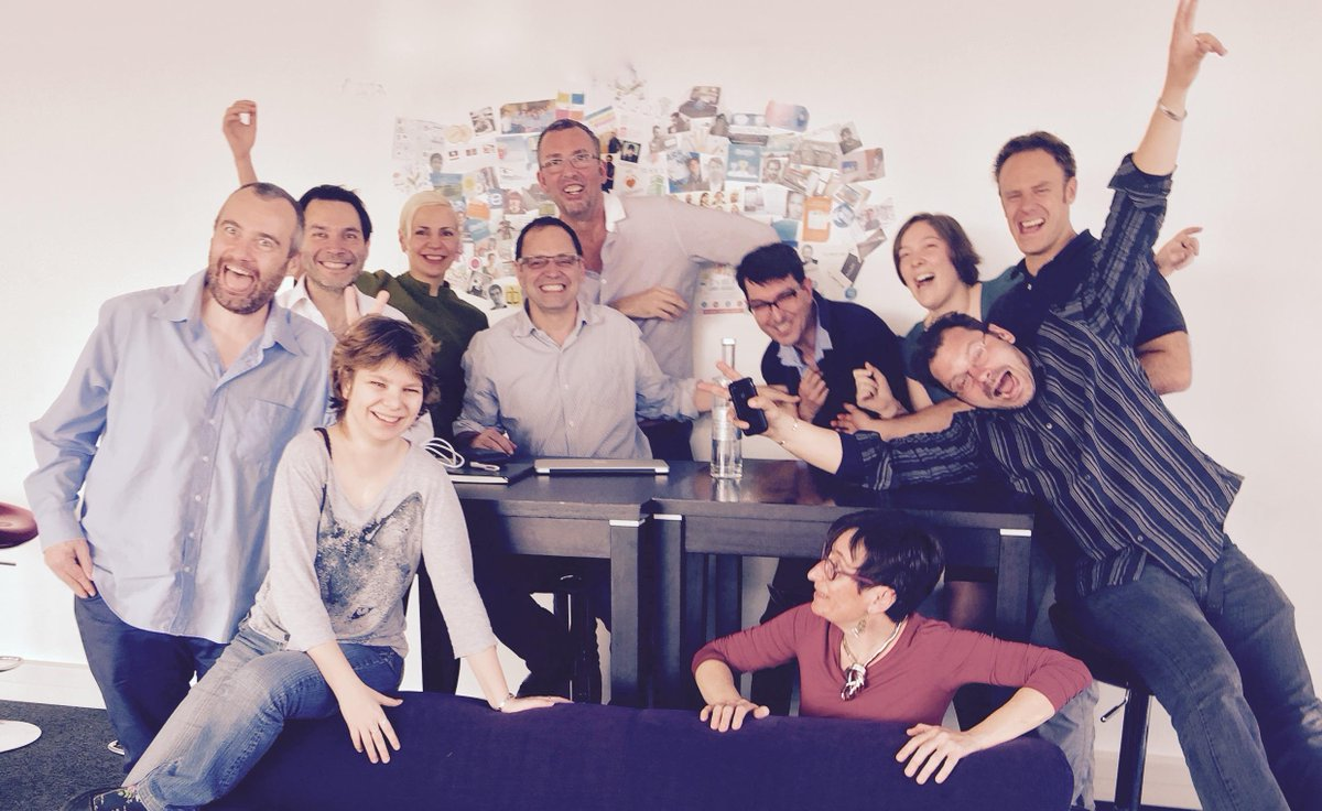 The Evercontact team's reaction after raising $1M with @AXAVentures today! #Priceless  :) http://t.co/Vx4kte2DIT