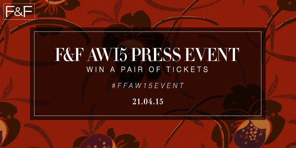 Follow and RT for a chance to #win tickets to our exclusive AW15 press event! #FFAW15Event http://t.co/uDEKlTrq6j http://t.co/3K0sM01oyA