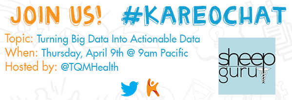 Is it #KareoChat time yet?! We couldn't be more excited for host @TQMHealth to talk #BigData tomorrow. Who's joining? http://t.co/1keCr0XSar