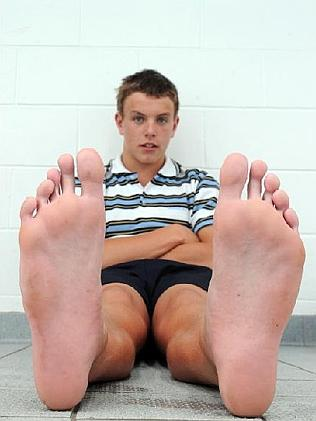 Big male feet