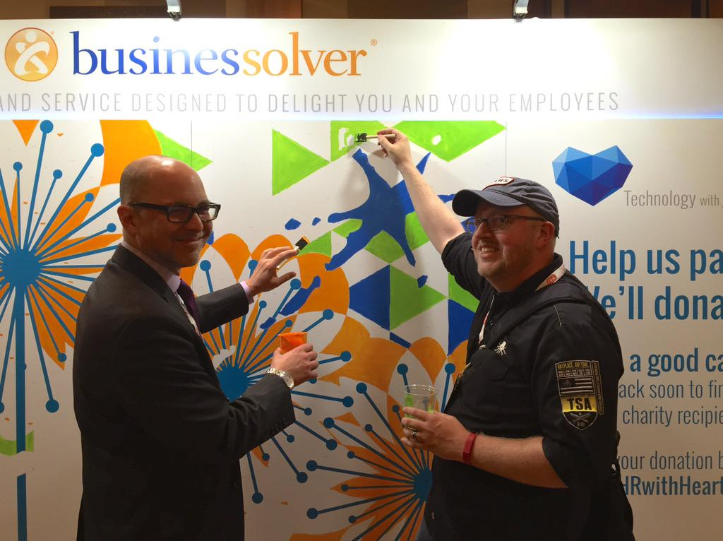 Me and @SteveBoese painting at the @businessolver booth. #HRwithHeart #BenefitsConf http://t.co/op0pArM3cU