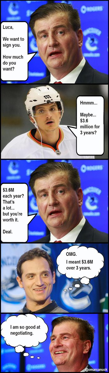 Found out how Sbisa's negotiation really went down with the #Canucks. http://t.co/VqVY55iN0X