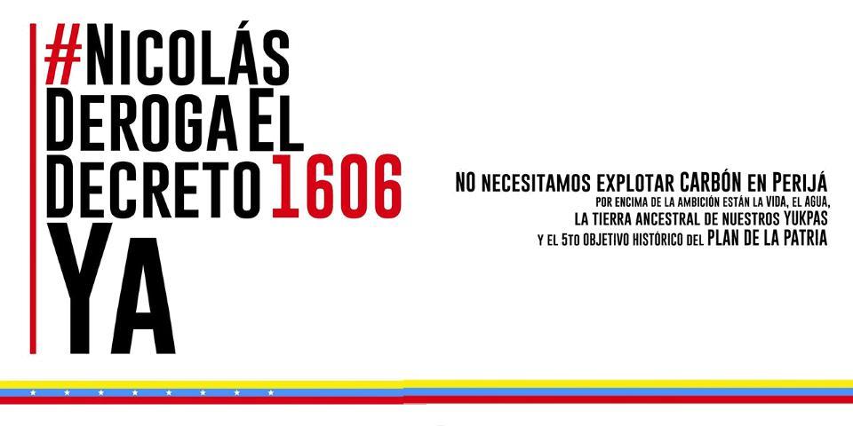 No necesitamos explotar carbón en Perijá #NicolásDerogaElDecreto1606YA - http://t.co/QUsEfuMHMj http://t.co/012YSg8odV