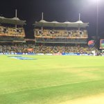 Chepauk is getting ready....yellow fever going to grip this stadium soon. #CSK v #DD in the #PepsiIPL http://t.co/XYzxkh7rPP