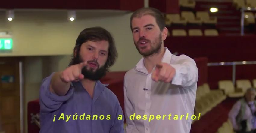 "VIDEO: Jackson y Boric piden ayuda para ""despertar"" proyecto que baja sueldo a parlamentarios http://t.co/44AP0GFigI http://t.co/SXJl3J7azM"
