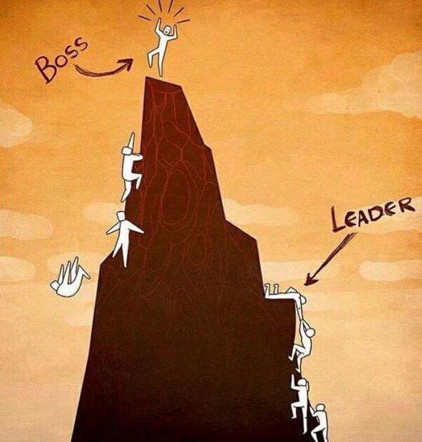 La grandeza del líder se refleja en el éxito de los demás RT @lidertarios: Boss vs. leader: http://t.co/89dEnghZz3