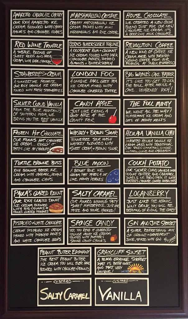 I thought everyone would like to take a peek at our new flavor board before we open Friday. It's good to plan ahead. http://t.co/x8o20qERXZ