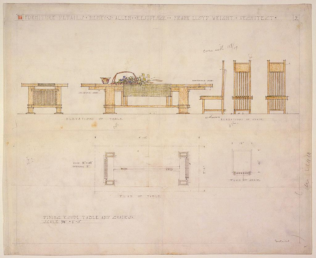 Remembering #FrankLloydWright, who passed away today in 1959, with his masterful drawings: http://t.co/UorKiDSFEd http://t.co/PwgHxeCs5H