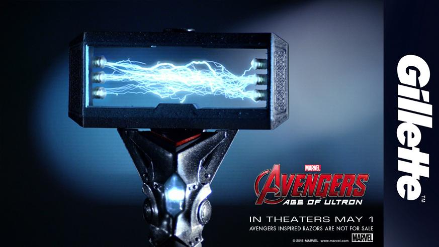 .@TheRealStanLee helps usher in a new way to shave your face.. maybe. #Flexball #Avengers #AgeofUltron http://t.co/wp9IVCl8ZV