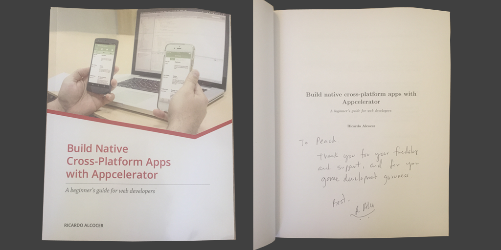 Got my #TiDev book from @ricardoalcocer of @appcelerator - congrats Nemesis! http://t.co/5SLWZUhqIn #appdev #indiedev http://t.co/Qn1py2zVgg