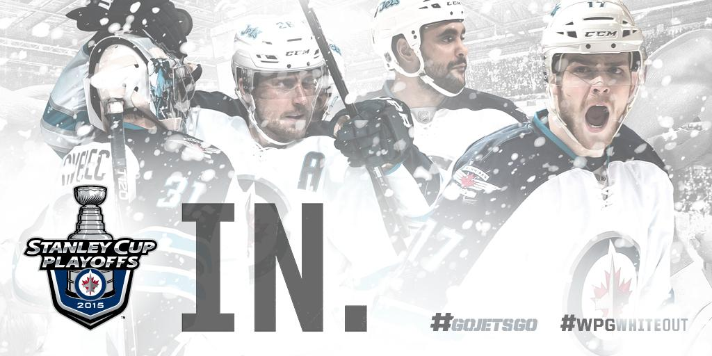 2015 Stanley Cup Playoffs. Clinched. #GoJetsGo #WPGWhiteout http://t.co/R7c51NBVX6