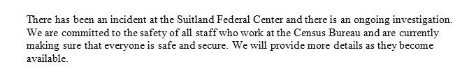 See attached statement from U.S. Census Bureau http://t.co/LvH3wTnEWG