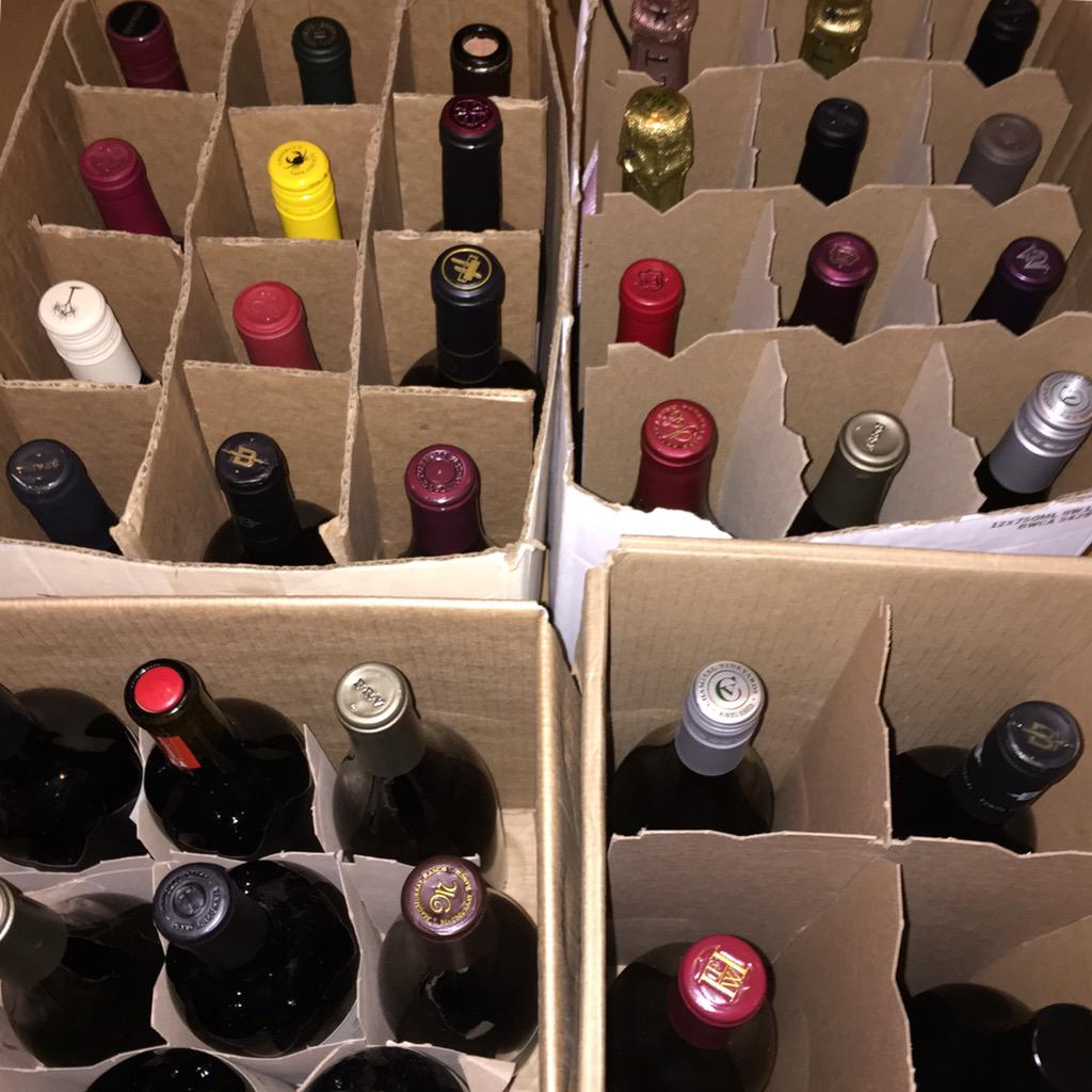 Topped 100 bottles for the #TONCLT #WineGrab!! Look at these varieties!! Get your @TasteNationCLT tickets now! http://t.co/DPaS1TMrqZ
