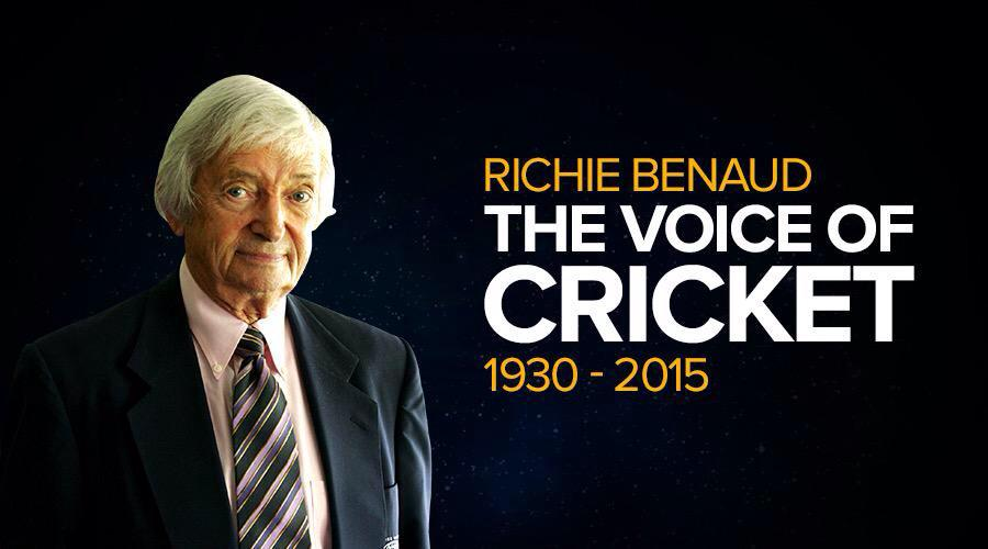 Sad to hear news this morning , the voice of cricket always captured the moment , true gentlemen #RIPRichieBenaud http://t.co/SAXtznyjRc