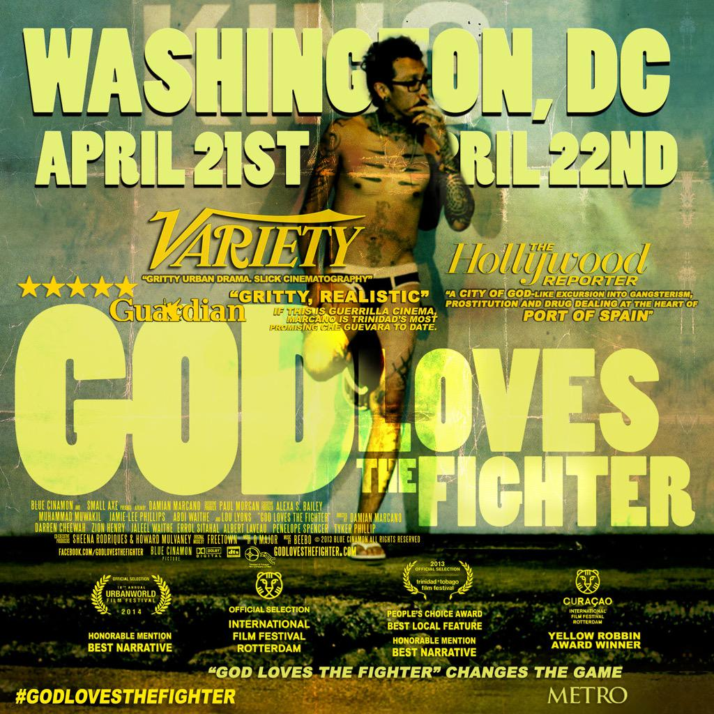 #GODLOVESTHEFIGHTER  NEXT IN WASHINGTON, DC - APRIL 21 & APRIL 22 @filmfestDC GET YOUR TICKETS http://t.co/4jsMmeFqg3 http://t.co/YIU3QFadK8