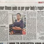 Proud of my trainer @ChannaVinod good to see his article in the papers today. http://t.co/NGEUjf2ysQ