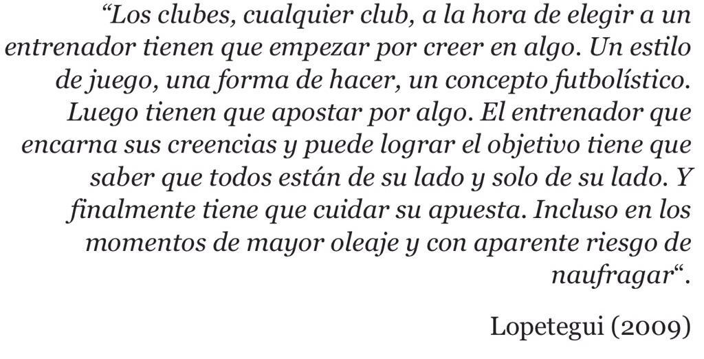 """""""Los clubes a la hora de elegir a un entrenador tienen q empezar por creer en algo..."""" (Lopetegui) via @martiperarnau http://t.co/nPKlTrc5MW"""