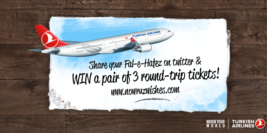 We're offering you a chance to spice up your Nowruz! Visit and WIN 3 round-trip tickets.