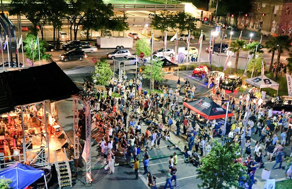 We're celebrating a record day yesterday with an estimated 55,000 attendees at #OneSpark! THANK YOU! http://t.co/wvC7FGjBiG