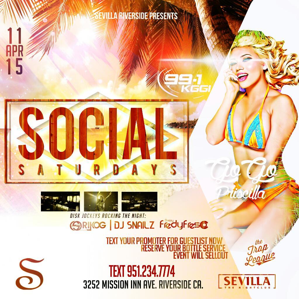 #SEVILLA #RIVERSIDE W/ @DJFREDYFRESCO LIVE! $150 (TAX INCLUDED)#CIROC B4 1030PM! RESERVE! TEXT9512347774