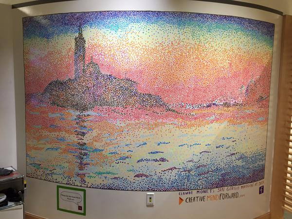 62,000 dots later, the amazing @JerrieLyndon has finished this beautiful mural on #ideapaint at the @innovationlab! http://t.co/X6xhngPtLc