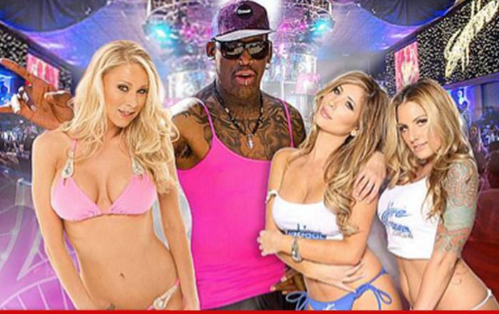Dennis Rodman has HUGE PORN STAR PARTY for his 54th birthday