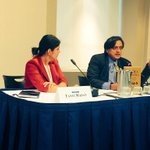 RT @ishaantharoor: Dad @ShashiTharoor chatting with @tanvi_madan at @BrookingsInst