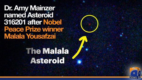 NASA names asteroid Malala http://t.co/y860WF2Rvl http://t.co/JsuO0Jhuuz