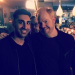 """""""@GibranSaleem: Been on set all day w @JimGaffigan for the @gaffiganshow. Woop woop! http://t.co/mHmbFoeeFE"""" Thx for your help"""