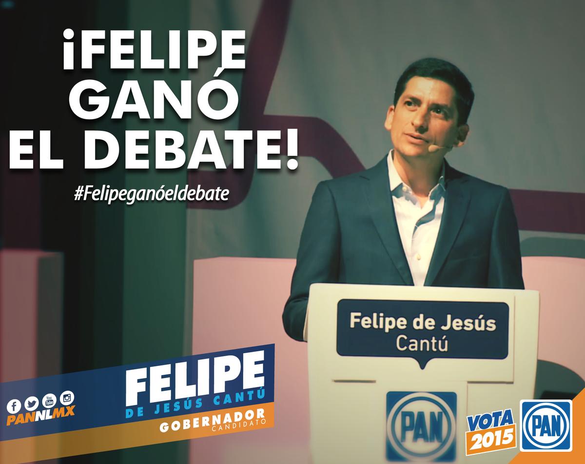 Con propuestas y proyectos #FelipeGanóElDebate http://t.co/FnFEtE3ahx