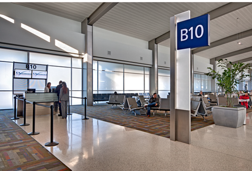 How high-tech are?  Very.  How very? Top 10 among US airports. Says who? Fodor's Travel.
