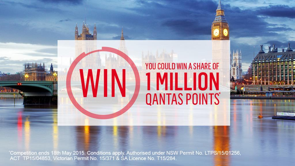 Want to win a share of 1 million QantasPoints? Set your PointsDestination to win!