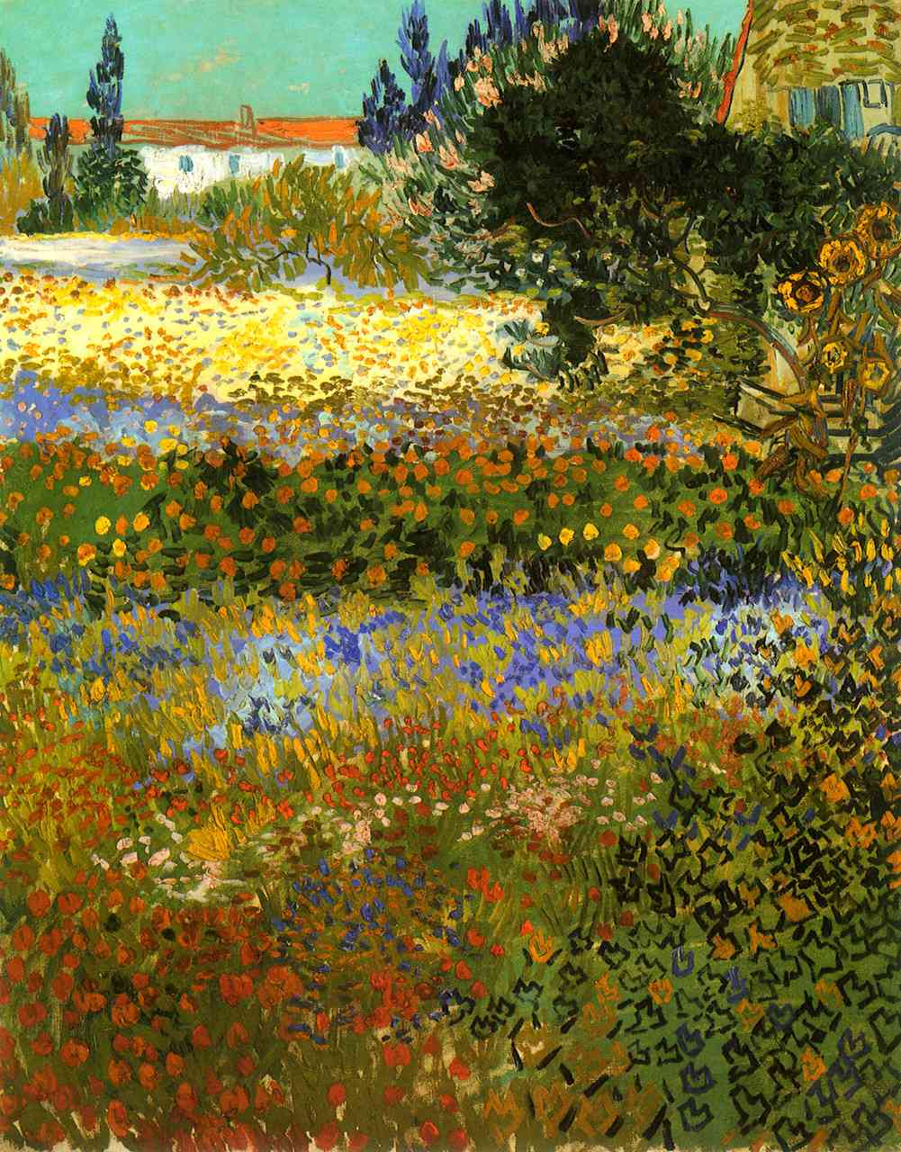 Check out the colours in 'Flowering Garden', 1888 by Vincent van Gogh http://t.co/8tgsYOocLl