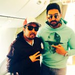 RT @MikaSingh: Just landed in #delhi with the tall, handsome and dashing man.. My bro @juniorbachchan ..