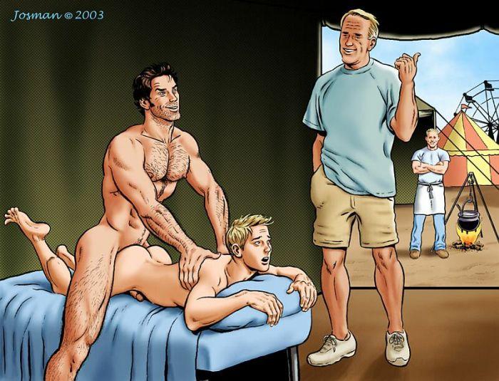 Гей порно комиксы фото