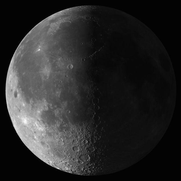 La Luna ha alcanzado la fase Cuarto Menguante a las 03:44 UTC. http://t.co/uzOnKjERqA
