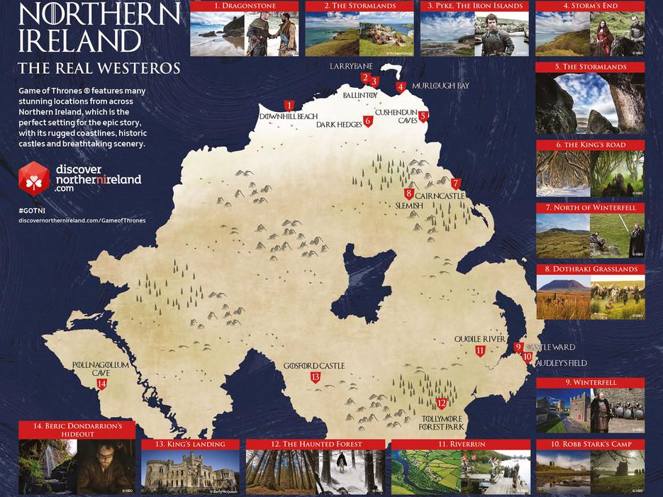 You can take a GameofThrones tour of Northern Ireland