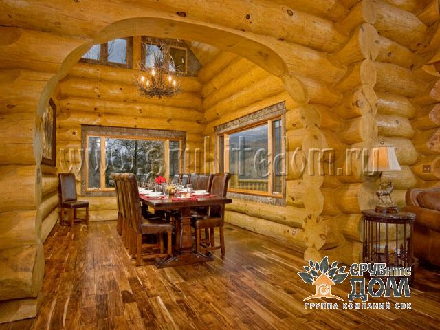 Дизайны домов из бревна с