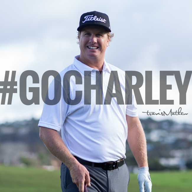 Charley with 1 birdie and 8 pars on the front 9! He is T2 and -10. Retweet or #GoCharley - chance to win a TM Polo. http://t.co/jNwiNNFuT6