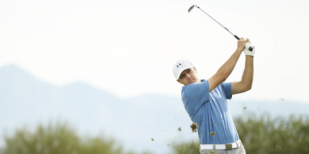 RT @UAGolf: 18 holes from history.   Clubhouse Leader: @JordanSpieth #TheMasters http://t.co/lsf2GZArNi