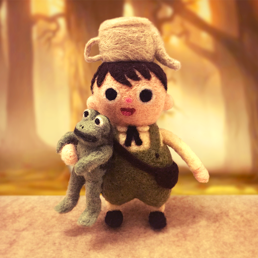 Dope. RT @kukubee: 20+ hours and several bandages later, here's Greg from @Patrick_McHale's Over the Garden Wall! http://t.co/vJsXzFD37q