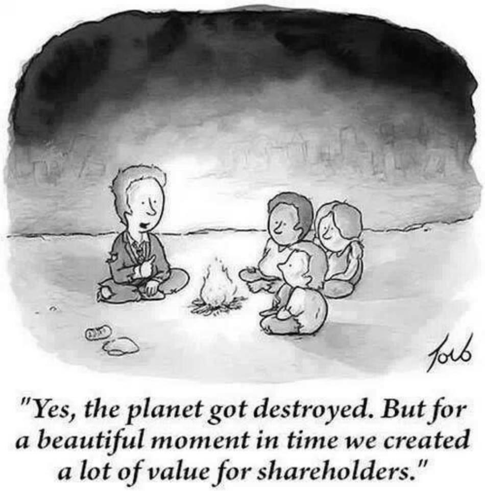 """Yes the planet got destroyed. But for a beautiful moment in time we created a lot of value for shareholders."" http://t.co/ApLvJSMF0V"