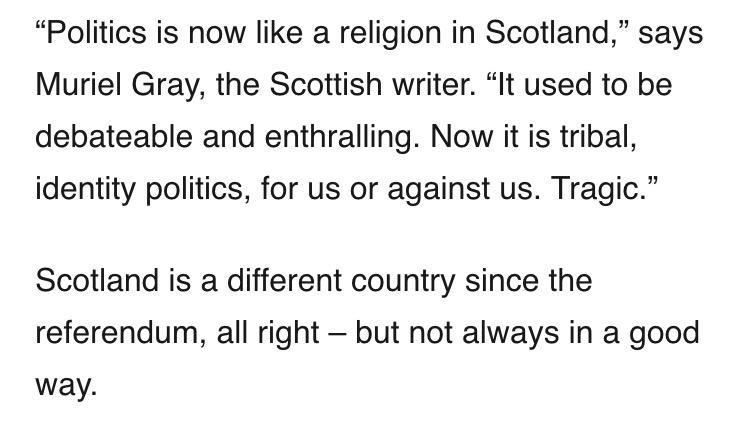 Muriel Gray sums up how I feel about the change in my homeland's politics over the last year http://t.co/rptvtjKKOf http://t.co/AixLx8carX