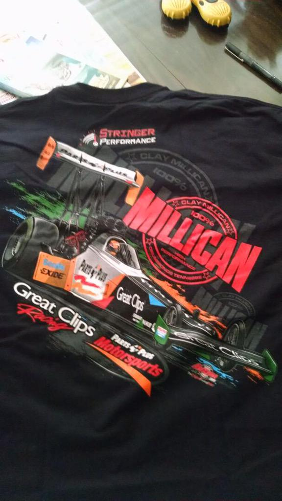 Giving away another signed shirt today. Day 3 of #vegas Race Day Must RT & follow @StringerRacing to win. #NHRA http://t.co/vNHgCqzYZu