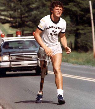 Terry Fox started The Marathon of Hope on April 12, 1980. He was 22.  His legacy runs on.  #hero #endcancer http://t.co/jxunzSZ3Dt