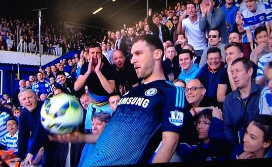 Well done Branislav Ivanovic - the way he dished abuse back at ignorant QPR fans was brilliant #CFC http://t.co/6fWlcWuAjZ